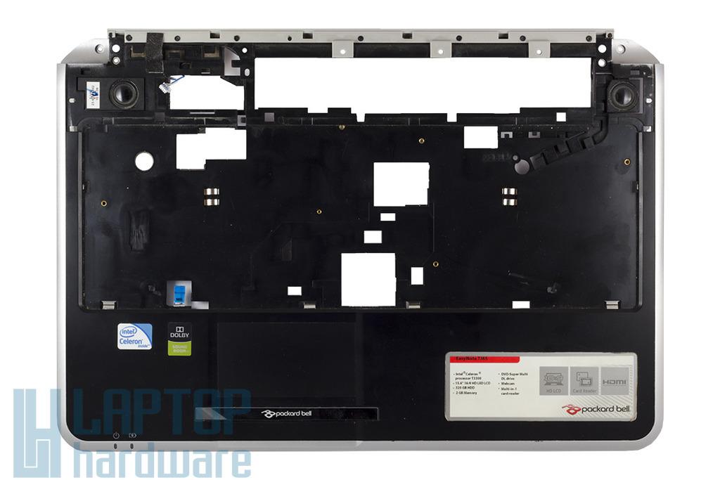 Packard Bell Easynote TJ61, TJ65 laptophoz használt felső fedél touchpaddel, hangszórókkal, FOX604BU2900