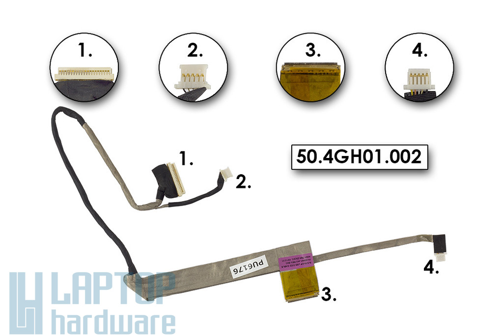 Packard Bell EasyNote TJ75, TJ76 használt LCD kábel, 50.4GH01.002