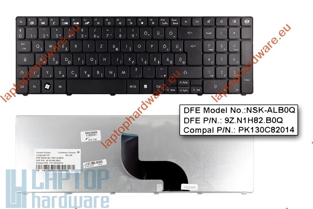Packard Bell EasyNote TK81,TK85, TM81 használt magyar laptop billentyűzet, KB.I170G.182