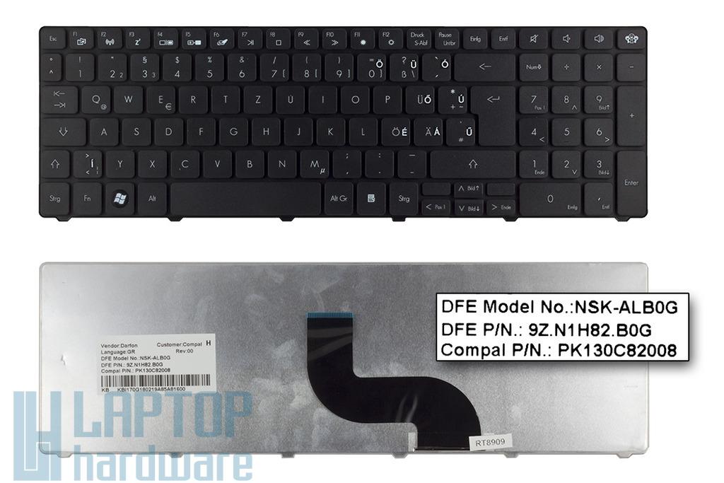 Packard Bell EasyNote TK81, TM81 gyári új magyarított német laptop billentyűzet (NSK-ALB0G)
