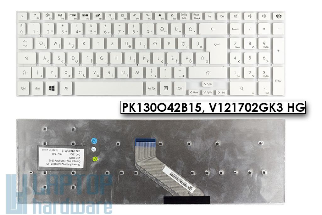 Packard Bell Easynote TS11, TS13, TS44 gyári új fehér magyar laptop billentyűzet (Win7) KB.I170G.331