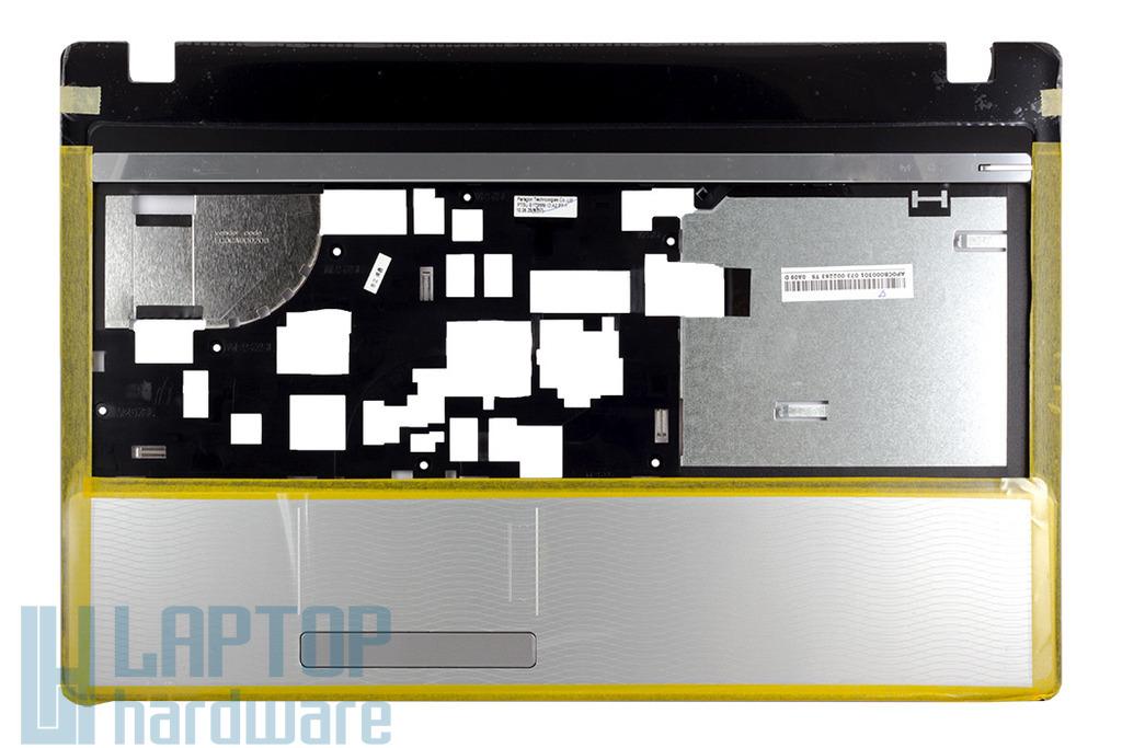 Packard Bell TM81, TM82, TM85 gyári új felső fedél, top case, touchpadel, 60.WJ802.001, 60.WML02.001