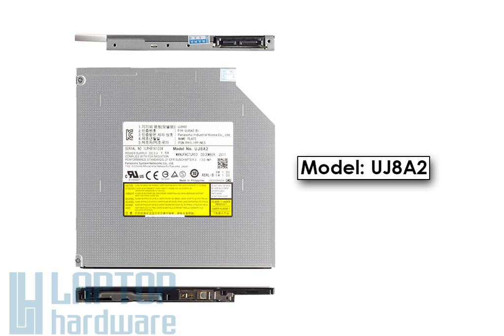 Panasonic gyári új SATA Ultra Slim 9.5mm laptop DVD-író (UJ8A2)