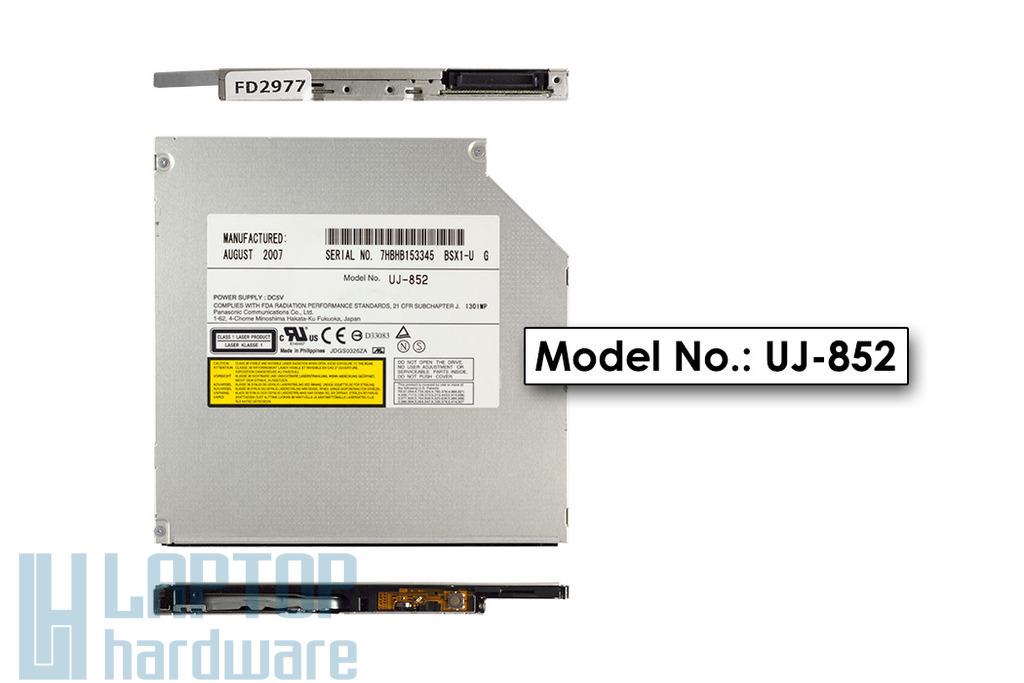 Panasonic UJ-852 Ultra Slim 9.5mm használt IDE laptop DVD-író