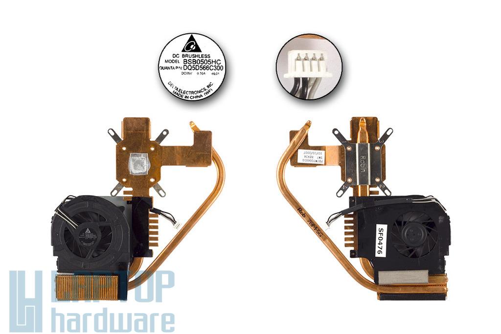 Philips 15NB57 használt komplett laptop hűtő ventilátor egység, (FBTW7006010)