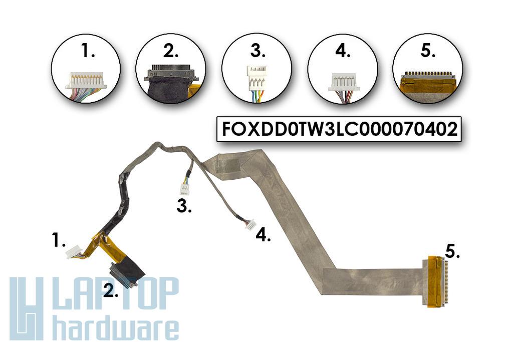 Philips Freevents X58 laptophoz használt LCD kábel (FOXDD0TW3LC000070402)