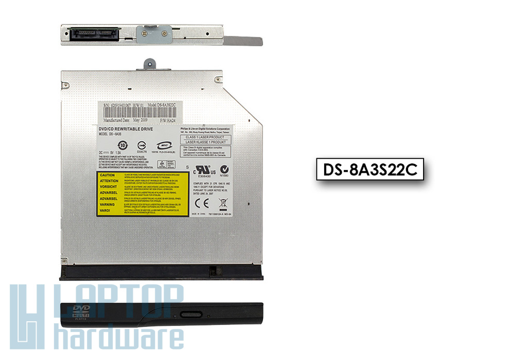 Philips - LiteON DS-8A3S Használt SATA DVD író előlappal (DS-8A3S22C)