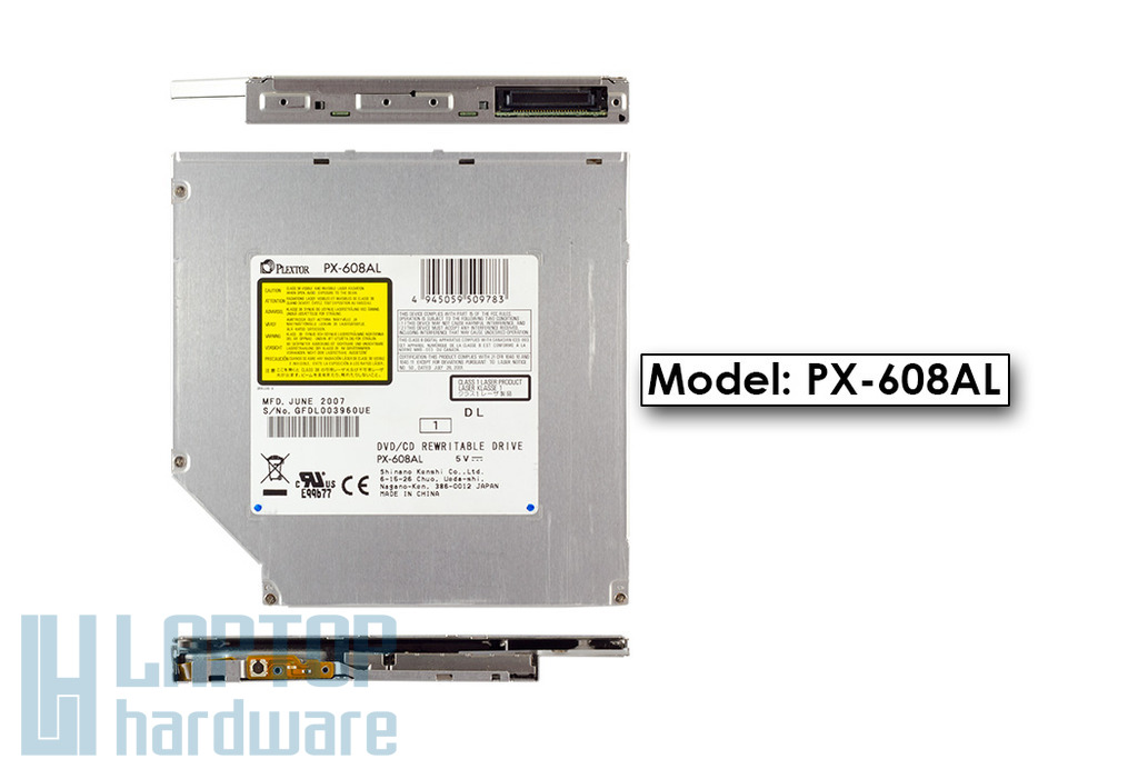 Plextor PX-608AL használt laptop IDE 8x DVD író
