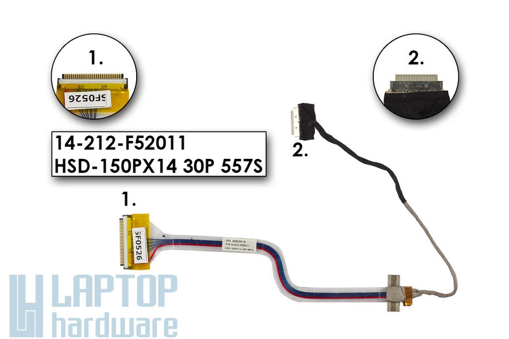 Prestigio 301S, ECS  iBuddy A530 netbookhoz használt LCD kábel (14-212-F52011)