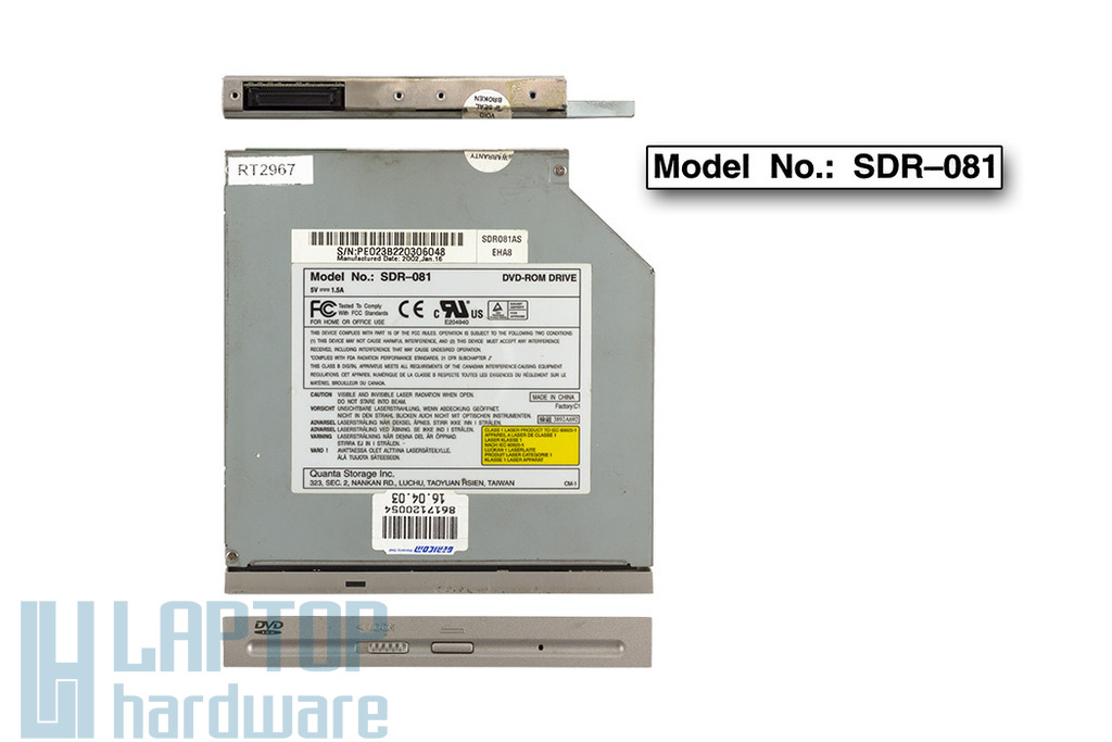 Quanta használt IDE laptop DVD-olvasó (SDR-081)