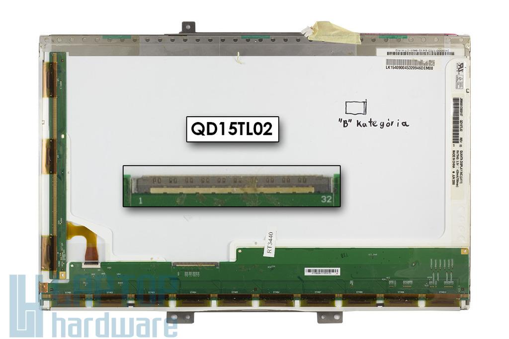 Quanta QD15TL02 15,4 inch WXGA B kategóriás használt matt laptop kijelző