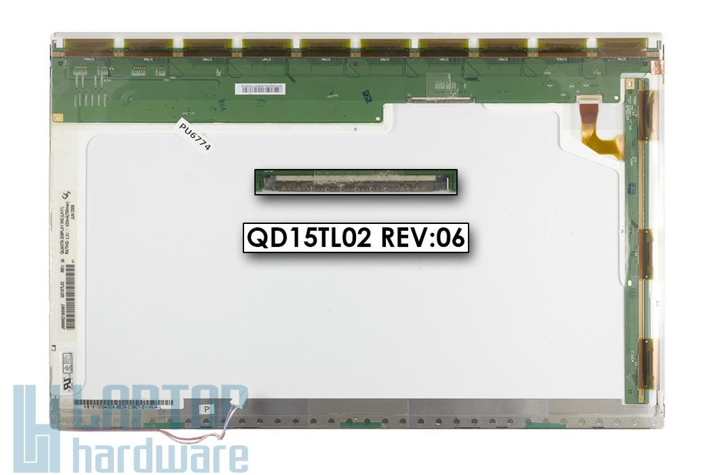 Quanta QD15TL02 15.4'' WXGA használt fényes notebook kijelző