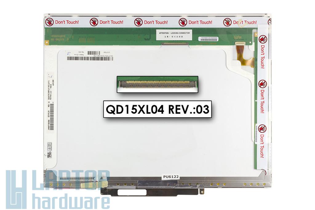 Quanta QD15XL04 15'' XGA használt matt laptop kijelző