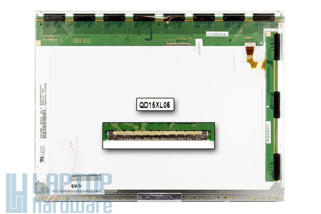 Quanta QD15XL06 15'' XGA használt matt laptop kijelző