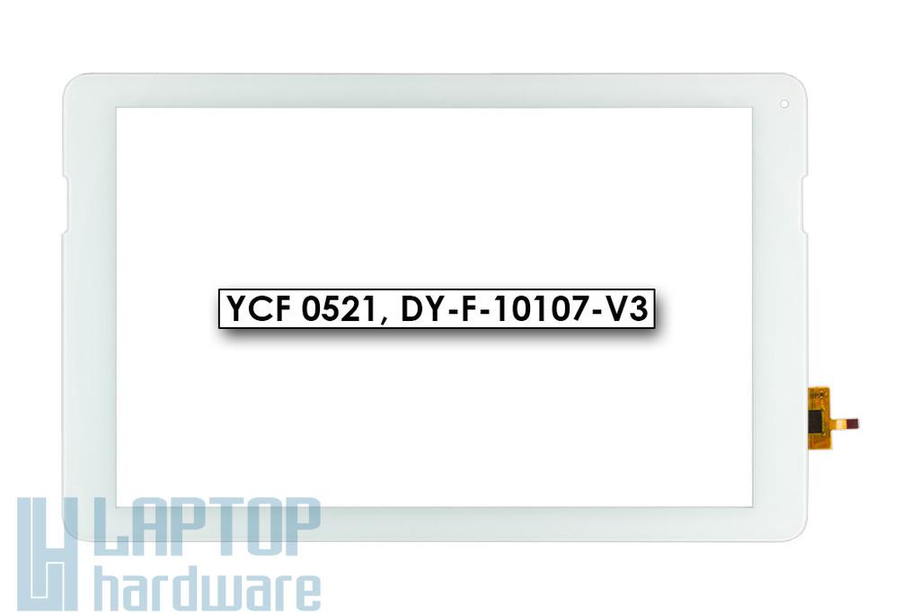 """Érintő panel, touchscreen (fehér, 10.1"""") Quantum Q-Wave A100MS tablethez (DY-F-10107-V3)"""