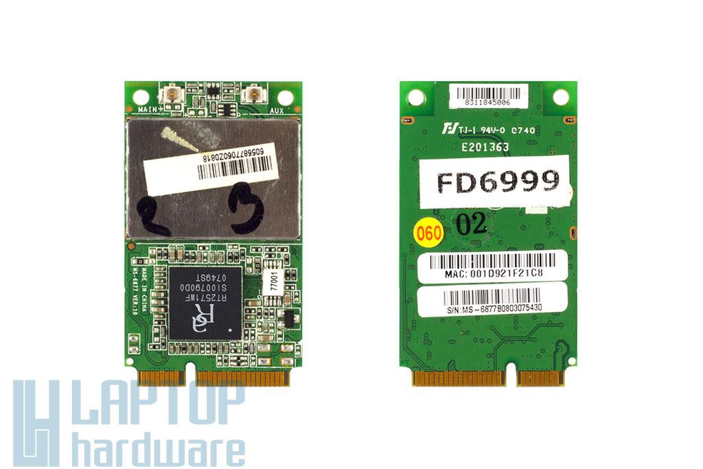 Ralink RT2571 használt Mini PCI-E laptop WiFi kártya