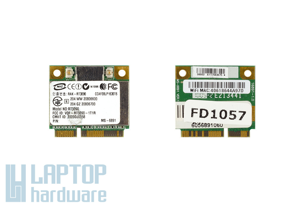 Ralink RT3090 használt Mini PCI-E (half) laptop WiFi kártya