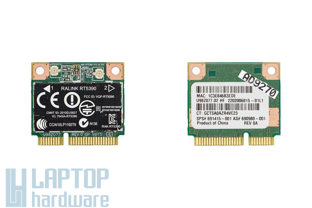 Ralink RT5390 gyári új Mini PCI-E (half) laptop WiFi kártya