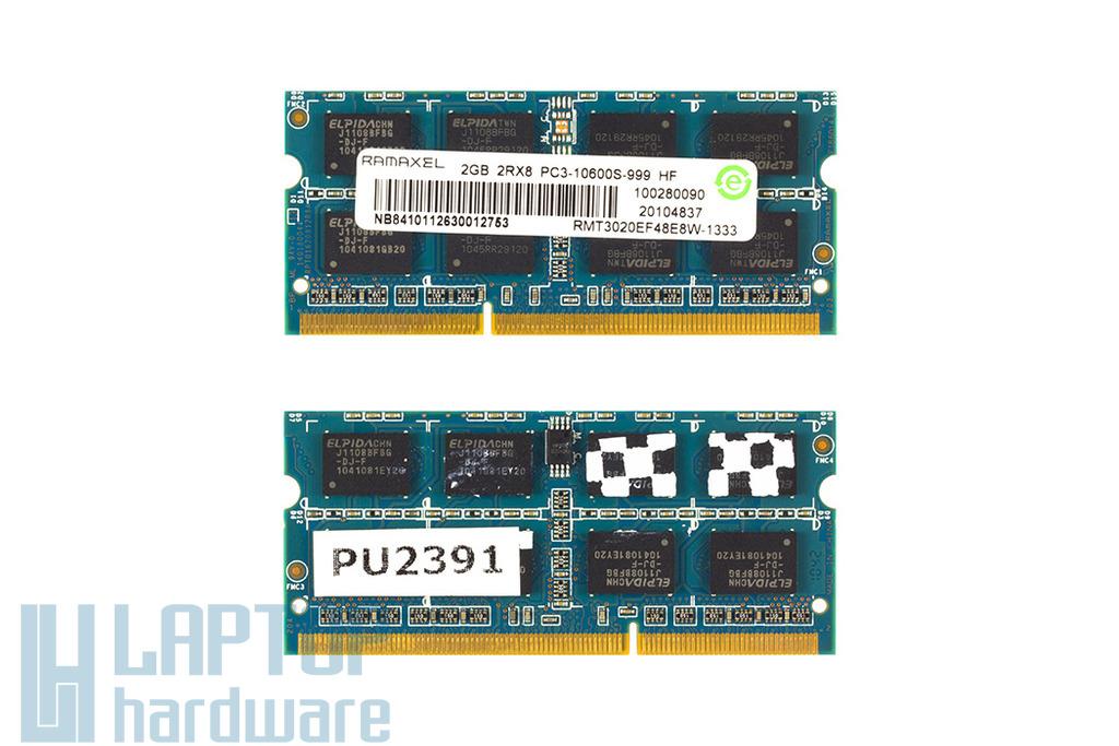 2GB DDR3 1333MHz használt laptop memória