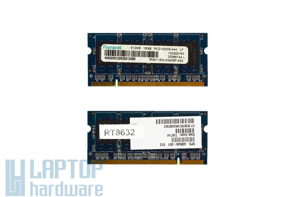 Ramaxel 512MB DDR2 533MHz használt memória HP laptopokhoz