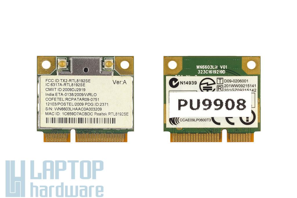 Realtek RTL8192SE Wireless LAN 802.11b/g/n használt Mini PCI-e (half) laptop WiFi kártya