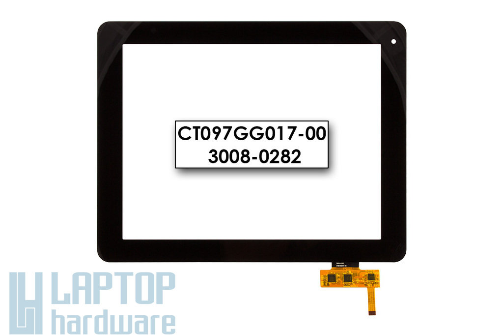 Érintő panel, touchscreen Prestigio MultiPad 9.7 ULTRA DUO  (PMP5597D) tablethez (CT097GG017-00)