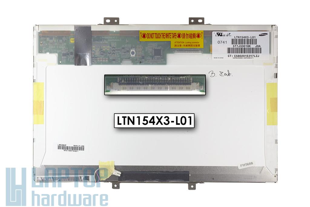 Samsung 15.4 inches LTN154X3-L01 használt fényes kijelző