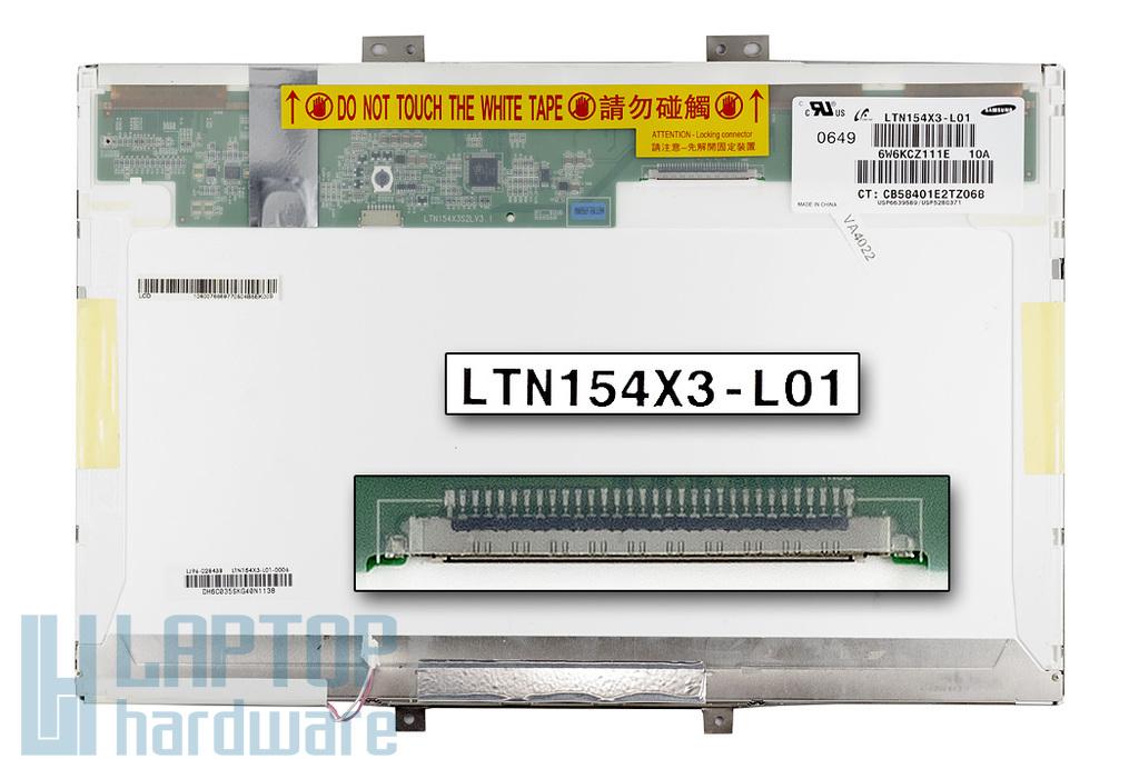 Samsung LTN154X3-L01 15,4 inch WXGA (1280x800) CCFL használt C kategóriás matt laptop kijelző