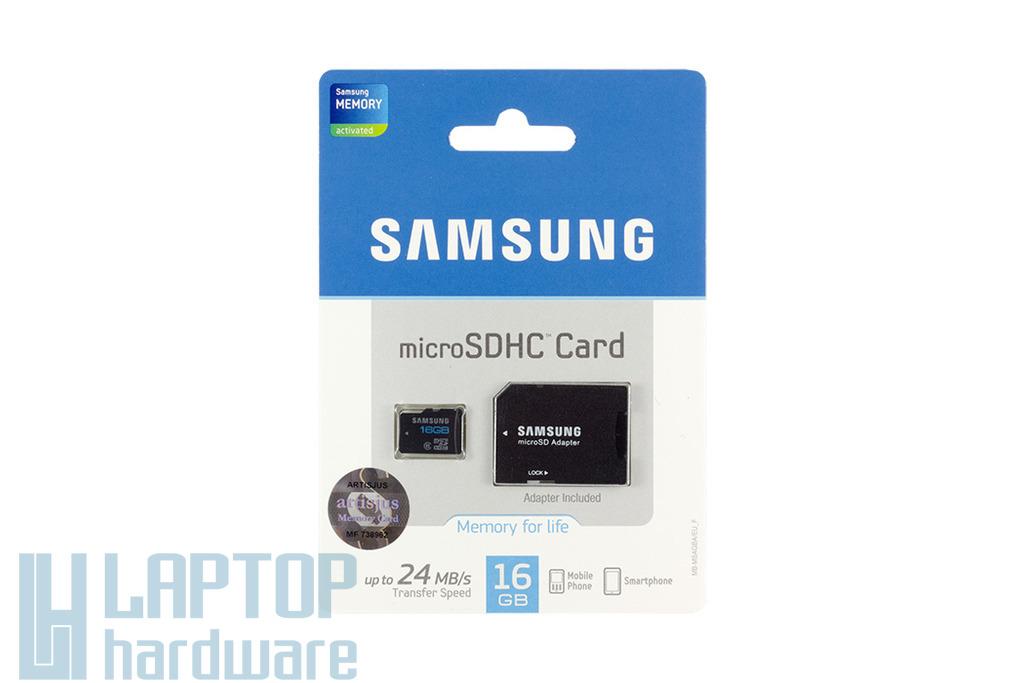 Samsung 16GB Micro SD kártya +adapter (MB-MSAGBA/EU)