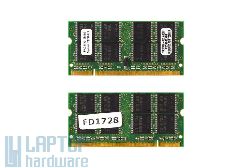 1GB DDR 333MHz használt laptop memória