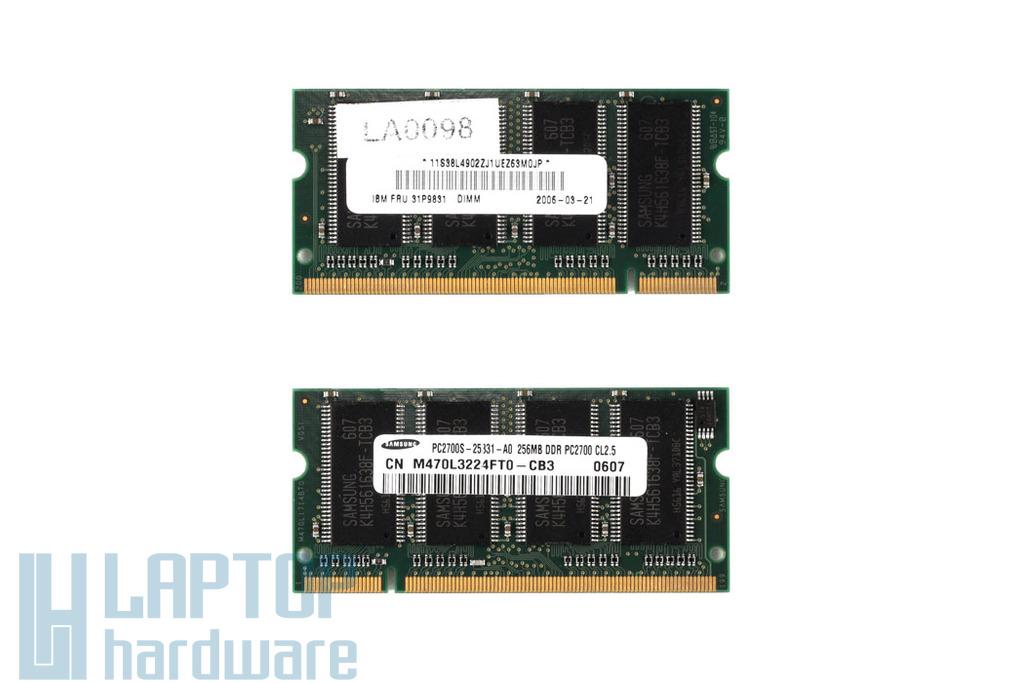 256MB DDR 333MHz használt laptop memória