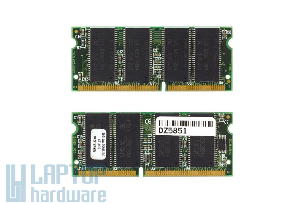 Samsung 256MB SDRAM 133Mhz használt laptop memória