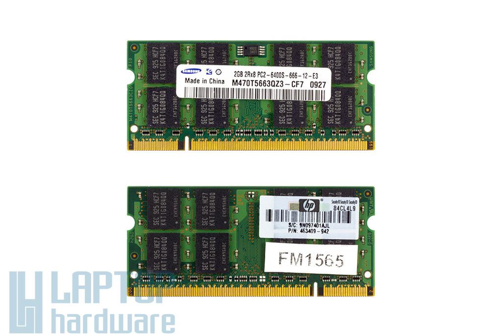 Samsung 2GB DDR2 800MHz használt memória HP laptopokhoz
