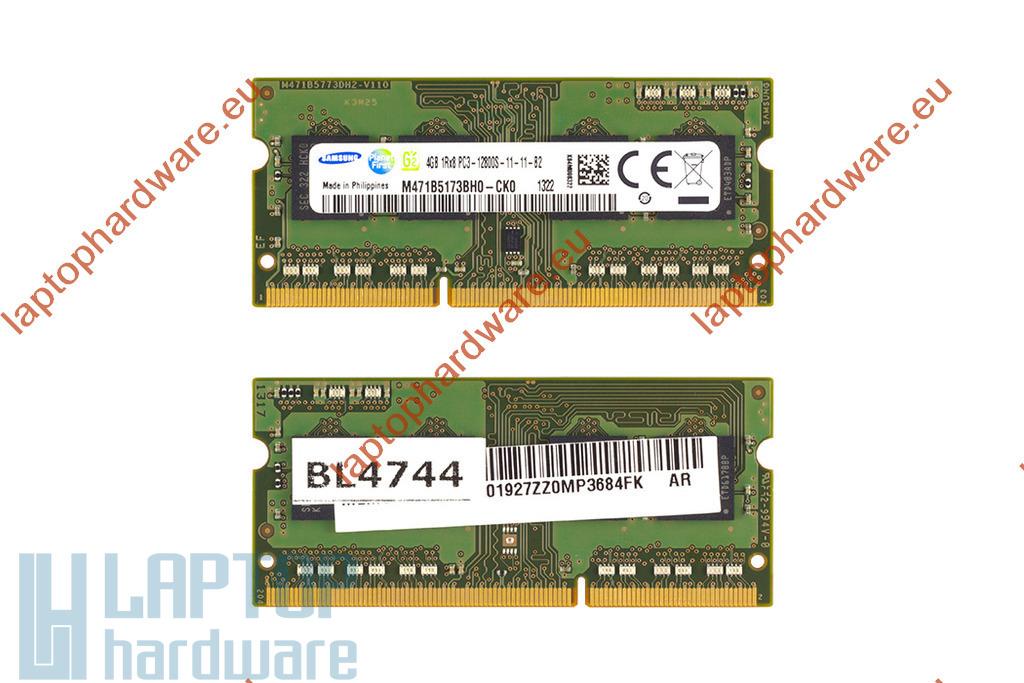 Samsung 4GB DDR3 1600MHz használt laptop memória HP laptopokhoz
