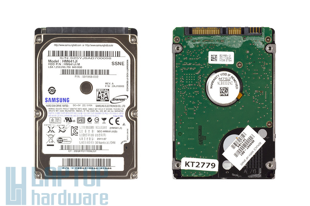 Samsung 640GB SATA2 használt winchester, merevlemez, HM641JI