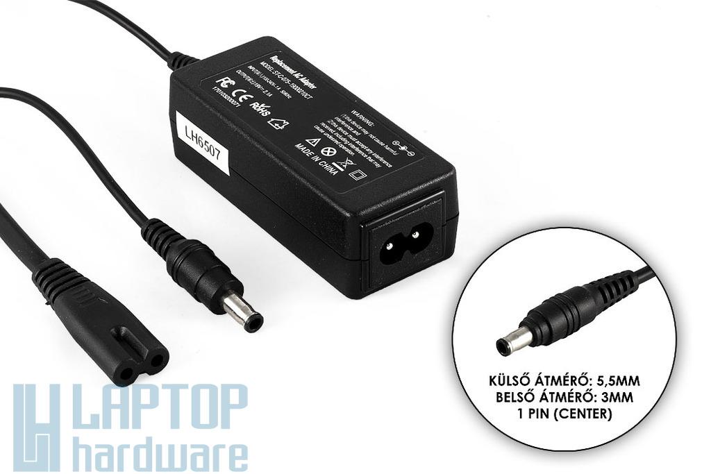 Samsung AD-4019 19V 2.1A 40W (center pin) helyettesítő új laptop töltő (AD-4019S, ADP-40MH AB)