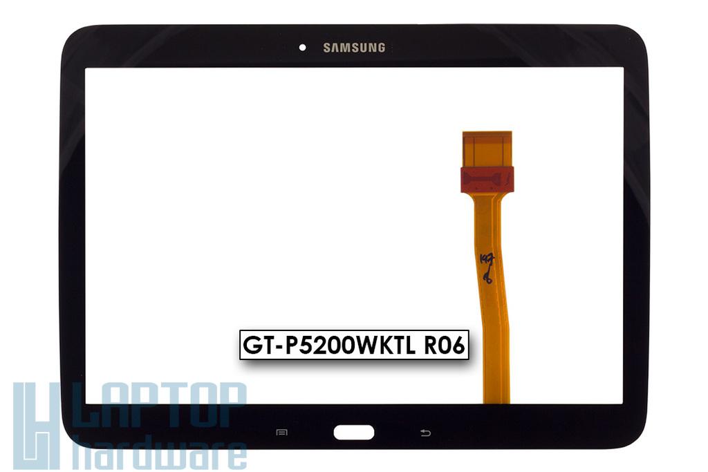 Érintő panel, touchscreen Samsung Galaxy Tab 3 10.1 (GT-P5200) tablethez (GT-P5200WKTL R06)