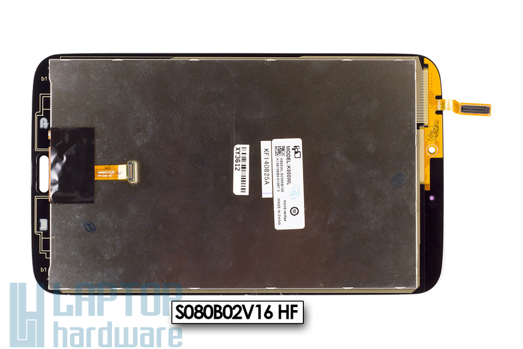 LCD kijelző modul (fehér) Samsung Galaxy Tab 3 SM-T310 tablethez (S080B02V16 HF)