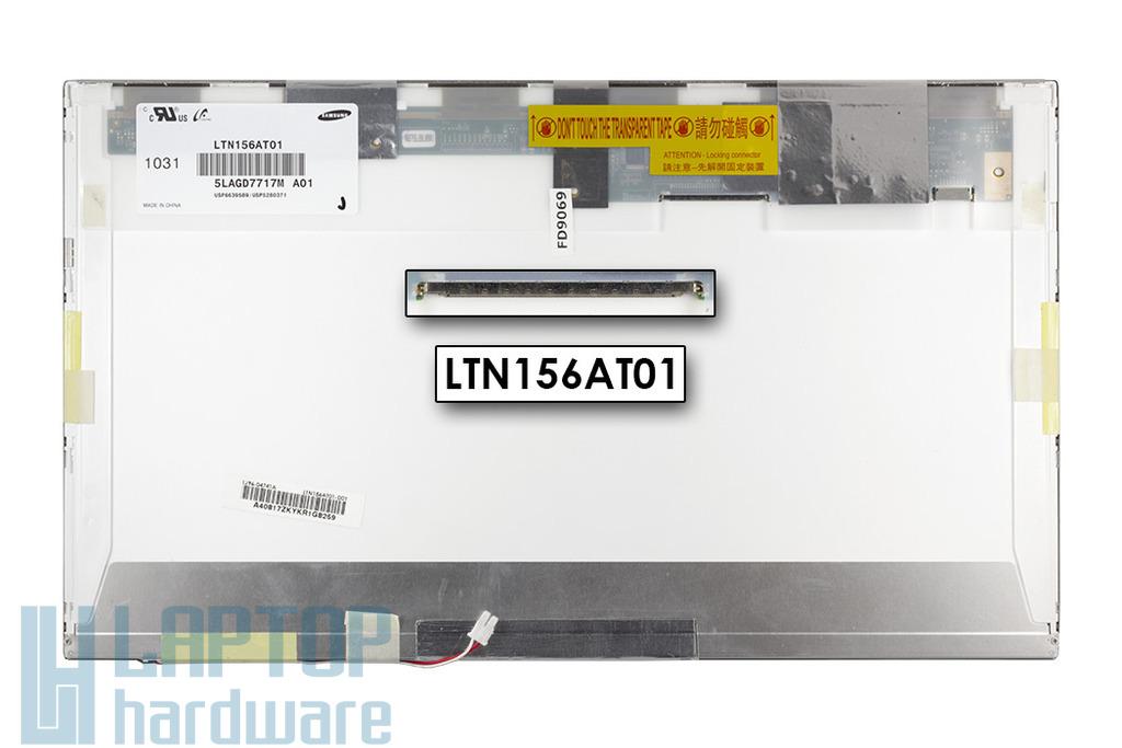 Samsung gyári új 1366x768 HD CCFL fényes laptop kijelző, LTN156AT01
