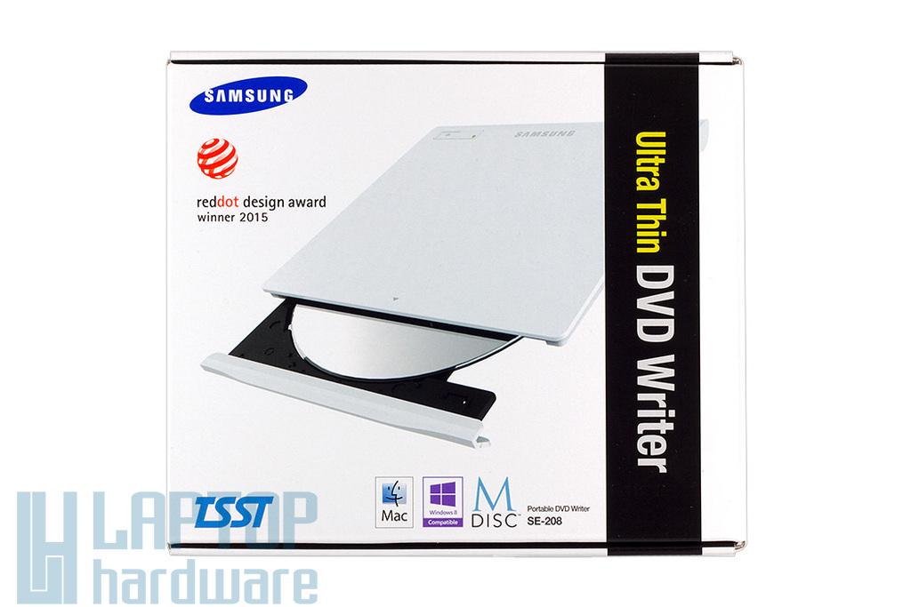 Samsung fehér SLIM USB DVD író (SE-208)