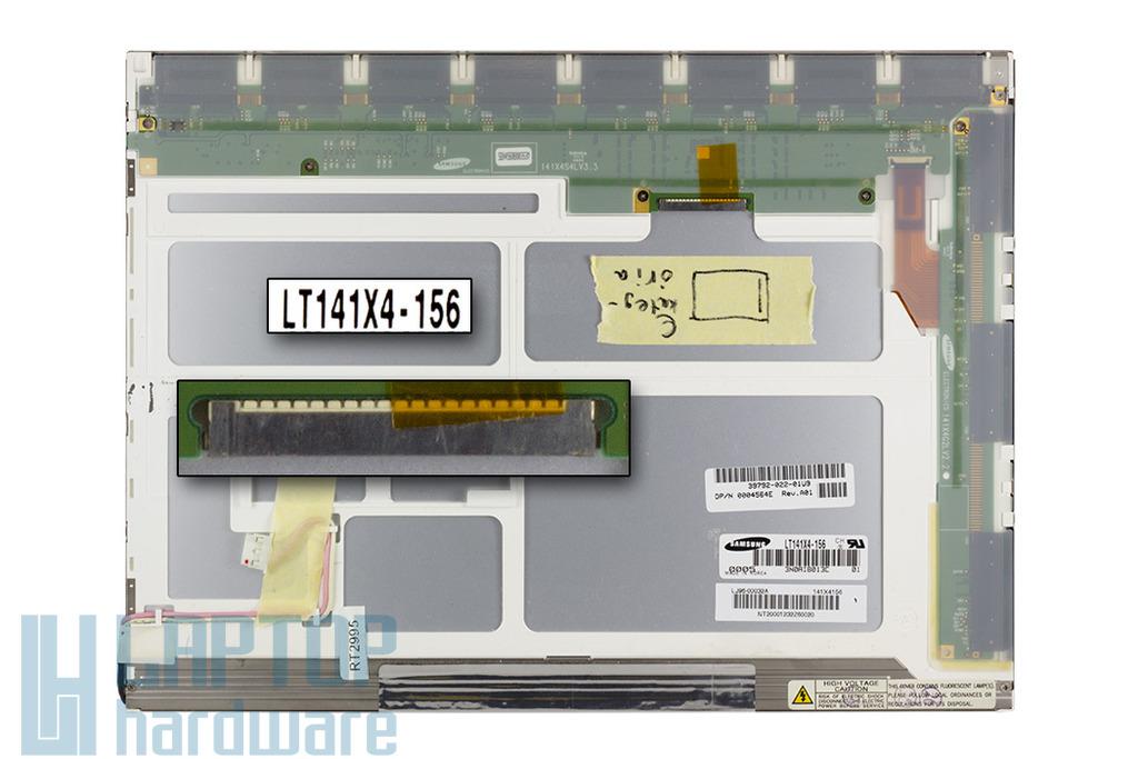 Samsung LT141X4-156 14,1 inch CCFL XGA 1024x768 használt matt C kategóriás laptop kijelző