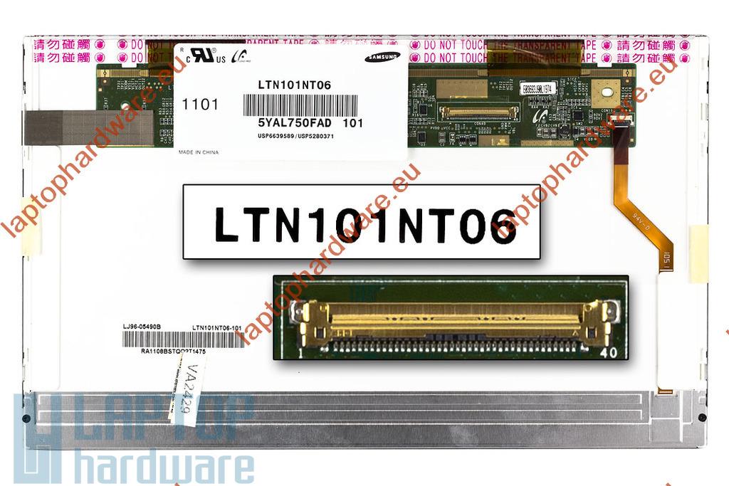 Samsung LTN101NT06 1024x600 használt matt laptop kijelző