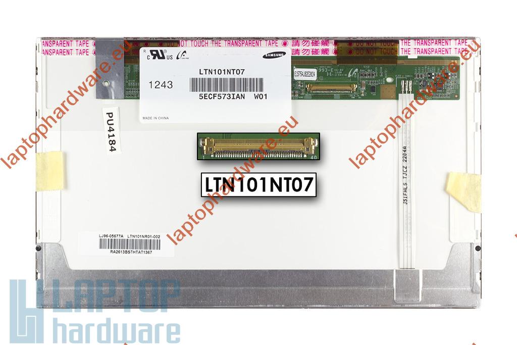 Gyári új matt 10.1'' (1024x600) LED laptop kijelző (csatlakozó: 40 pin - bal)