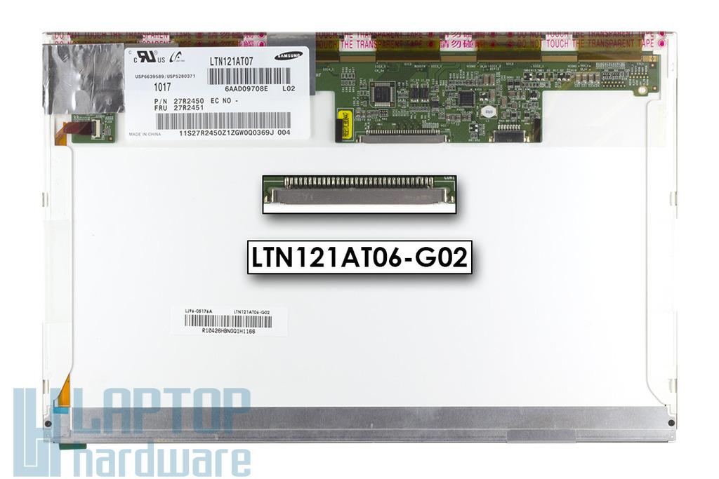 """Gyári új matt 12.1"""" (1280x800) LED laptop kijelző (csatlakozó: 30 pin - jobb fent)"""