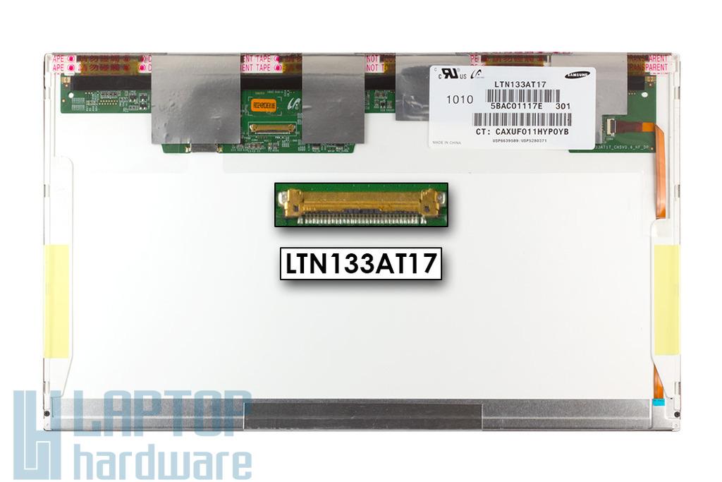 Gyári új matt 13.3'' HD (1366x768) LED laptop kijelző (csatlakozó: 30 pin - jobb)