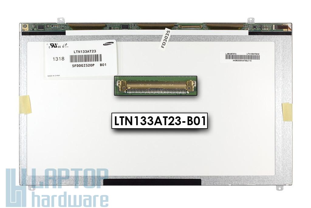 Gyári új matt 13.3'' HD (1366x768) LED laptop Slim kijelző (csatlakozó: 40 pin - bal)