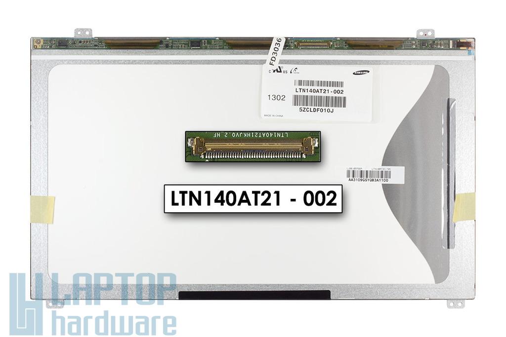 Gyári új matt 14.0'' HD (1366x768) LED laptop Slim kijelző (csatlakozó: 40 pin - bal)