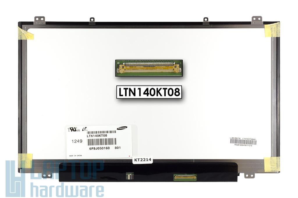 Gyári új matt 14.0'' HD (1600x900) LED laptop Slim kijelző (csatlakozó: 40 pin - jobb)