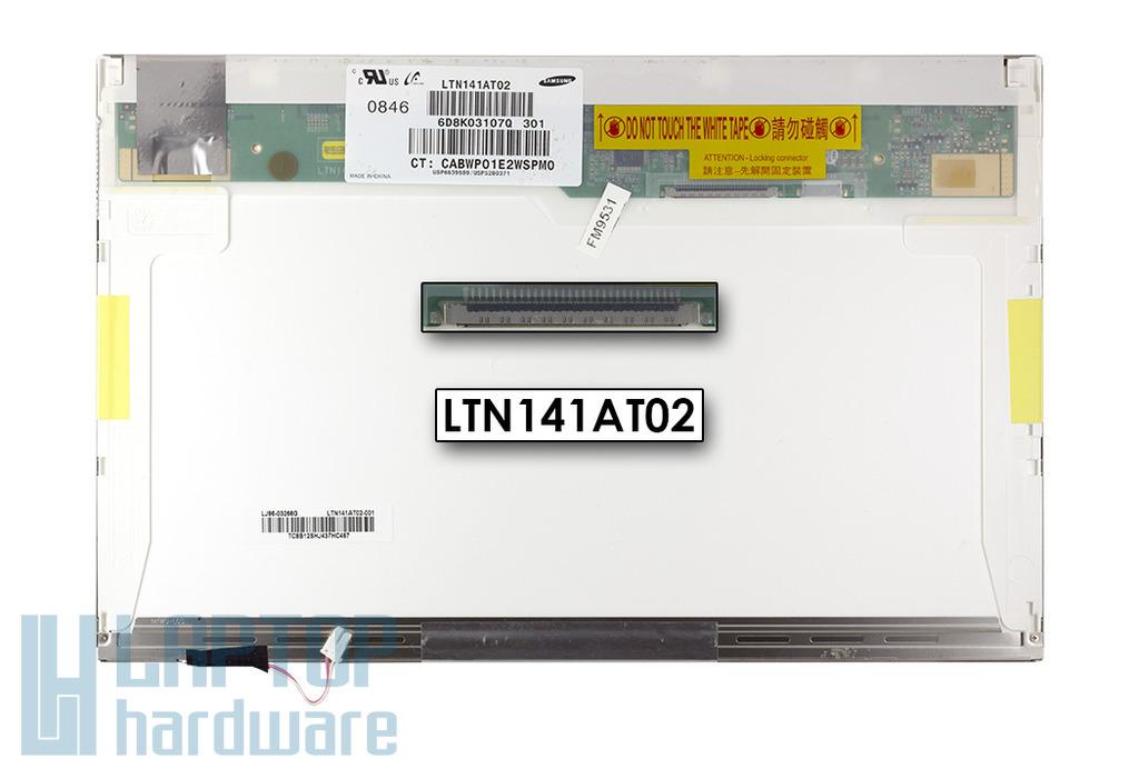 Samsung LTN141AT02 CCFL használt matt laptop kijelző