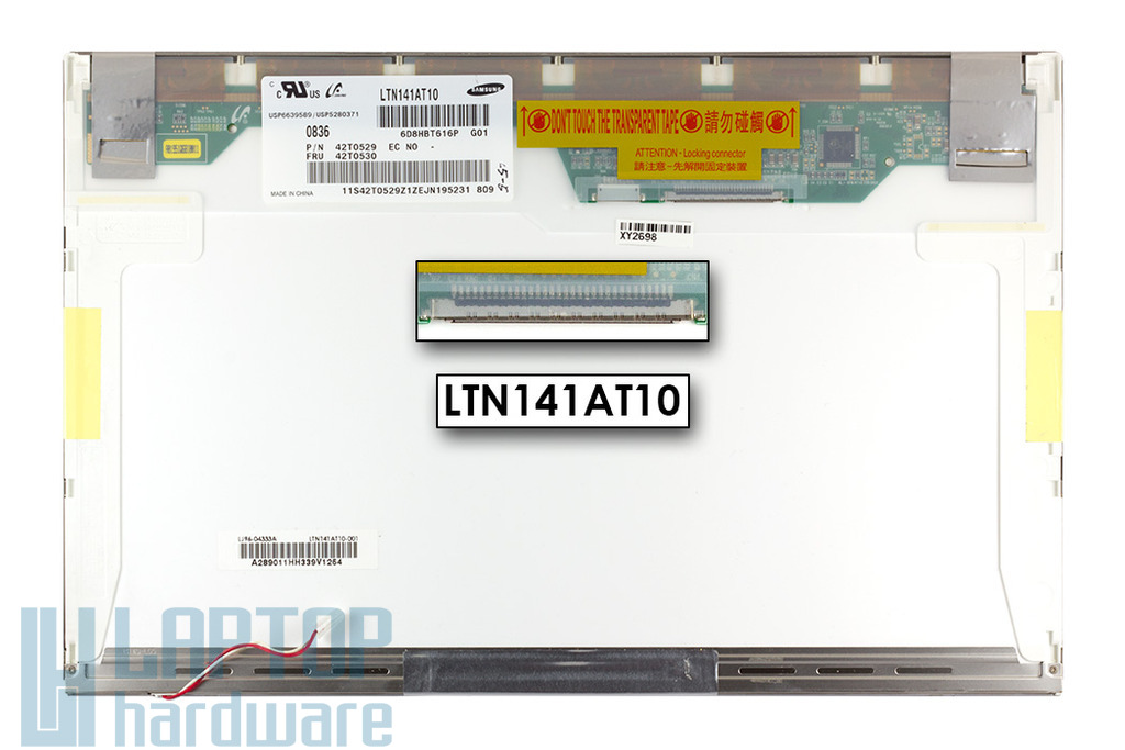 Samsung LTN141AT10 14,1'' WXGA (1280*800) használt CCFL fényes laptop kijelző